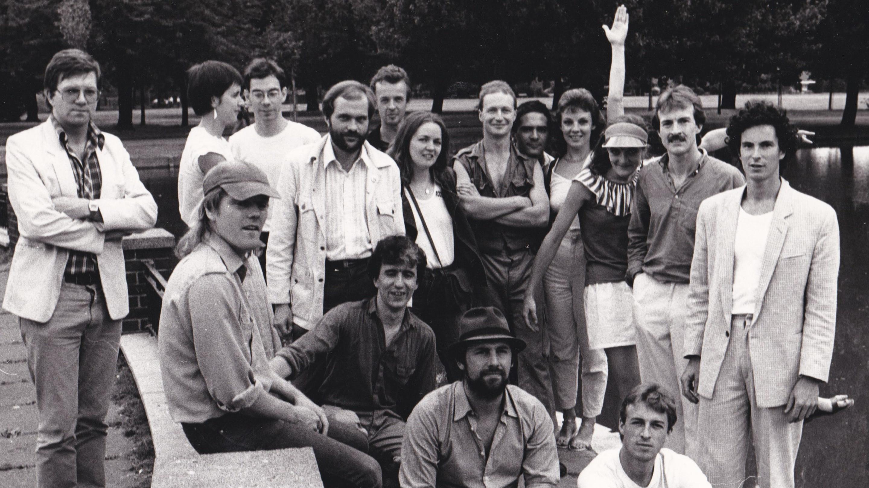 Lost jockey group photo